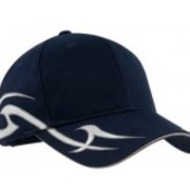 Racing Cap with Sickle Flames