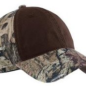 Camo Cap with Contrast Front Panel